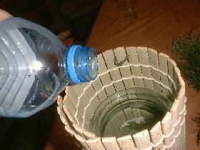 remplir d'eau