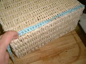 mesurer longueur et largeur du panier