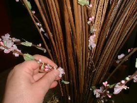 répartir les branches à petites fleurs