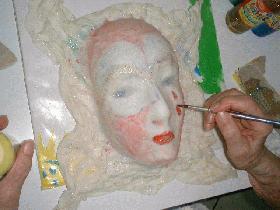 peindre avec les peintures paillettes ou gouaches